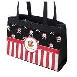 Pirate & Stripes Zippered Everyday Tote (Personalized)
