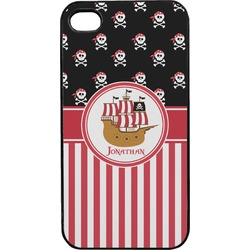 Pirate & Stripes Plastic 4/4S iPhone Case (Personalized)