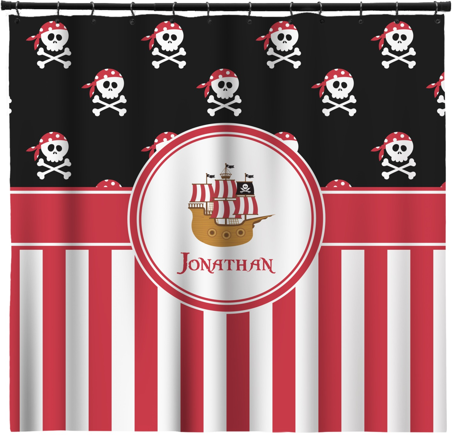 Pirate Stripes Shower Curtain 69 X70 Personalized Youcustomizeit