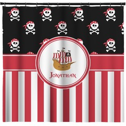 Pirate & Stripes Shower Curtain (Personalized)