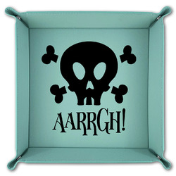 Pirate Teal Faux Leather Valet Tray (Personalized)