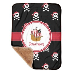 "Pirate Sherpa Baby Blanket 30"" x 40"" (Personalized)"
