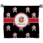 Pirate Full Print Bath Towel (Personalized)