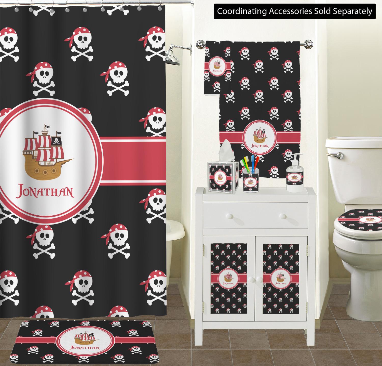 Charmant Pirate Ceramic Bathroom Accessories The Red U0026 Black Pirate Collection Pirate  Bathroom Scene ...