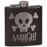 Pirate Black Flask (Personalized)