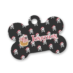 Pirate Bone Shaped Dog Tag (Personalized)