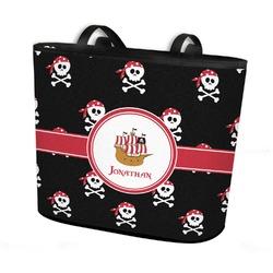 Pirate Bucket Tote w/ Genuine Leather Trim (Personalized)