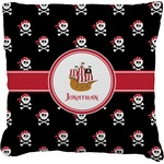Pirate Burlap Throw Pillow (Personalized)
