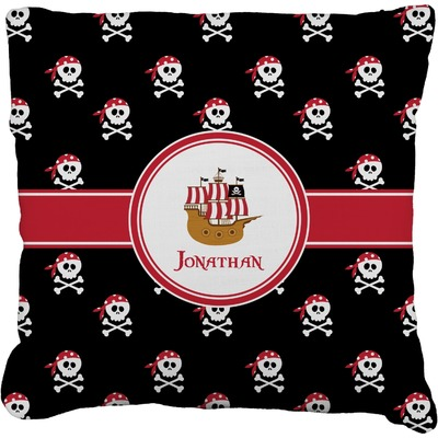 Pirate Faux-Linen Throw Pillow (Personalized)