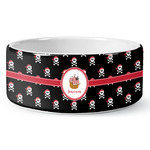 Pirate Ceramic Dog Bowl (Personalized)