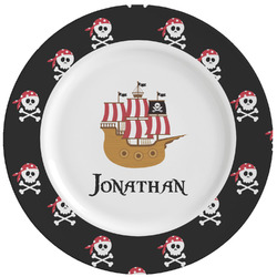 Pirate Ceramic Dinner Plates (Set of 4) (Personalized)