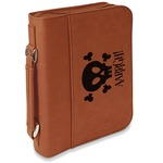 Pirate Leatherette Book / Bible Cover with Handle & Zipper (Personalized)