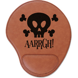 Pirate Leatherette Mouse Pad with Wrist Support (Personalized)