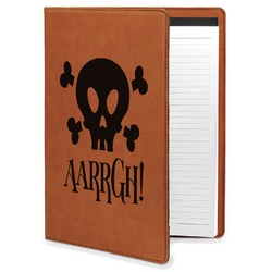 Pirate Leatherette Portfolio with Notepad (Personalized)