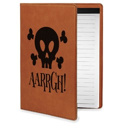 Pirate Leatherette Portfolio with Notepad - Small - Single Sided (Personalized)