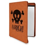 Pirate Leatherette Zipper Portfolio with Notepad (Personalized)