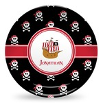 Pirate Microwave Safe Plastic Plate - Composite Polymer (Personalized)