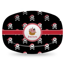 Pirate Plastic Platter - Microwave & Oven Safe Composite Polymer (Personalized)