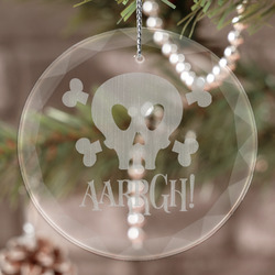 Pirate Engraved Glass Ornament (Personalized)