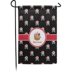Pirate Single Sided Garden Flag With Pole (Personalized)