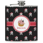 Pirate Genuine Leather Flask (Personalized)