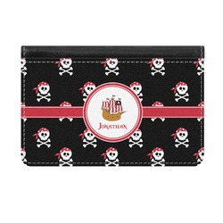 Pirate Genuine Leather ID & Card Wallet - Slim Style (Personalized)