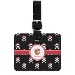 Pirate Genuine Leather Rectangular  Luggage Tag (Personalized)
