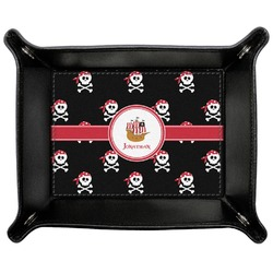 Pirate Genuine Leather Valet Tray (Personalized)