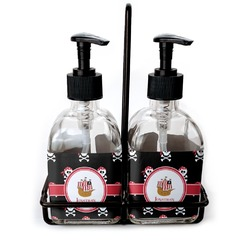 Pirate Soap & Lotion Dispenser Set (Glass) (Personalized)