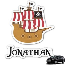 Pirate Graphic Car Decal (Personalized)