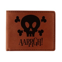 Pirate Leatherette Bifold Wallet (Personalized)