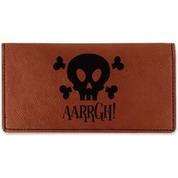 Pirate Leatherette Checkbook Holder (Personalized)