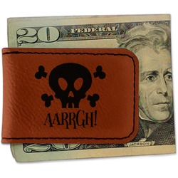 Pirate Leatherette Magnetic Money Clip (Personalized)