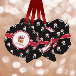 Pirate Metal Ornaments - Double Sided w/ Name or Text