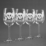 Pirate Wine Glasses (Set of 4) (Personalized)
