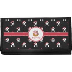 Pirate Canvas Checkbook Cover (Personalized)