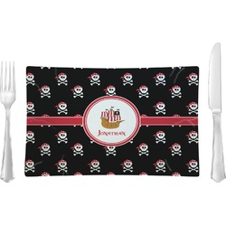Pirate Glass Rectangular Lunch / Dinner Plate - Single or Set (Personalized)