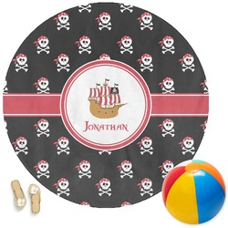Pirate Round Beach Towel (Personalized)