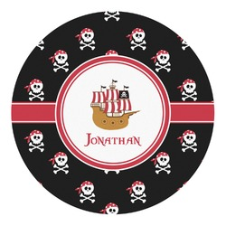 Pirate Round Decal - Custom Size (Personalized)