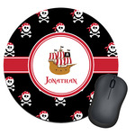 Pirate Round Mouse Pad (Personalized)