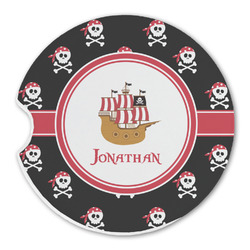 Pirate Sandstone Car Coaster - Single (Personalized)