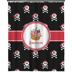 """Pirate Extra Long Shower Curtain - 70""""x84"""" (Personalized)"""