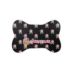 Pirate Bone Shaped Dog Food Mat (Small) (Personalized)