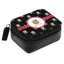 Pirate Small Leatherette Travel Pill Case (Personalized)