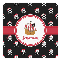 Pirate Square Decal - Large (Personalized)