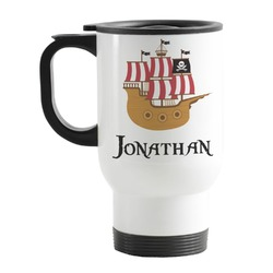 Pirate Stainless Steel Travel Mug with Handle