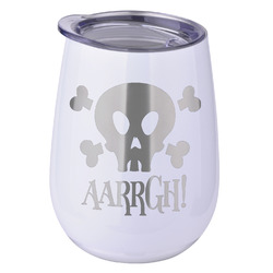 Pirate Stemless Wine Tumbler - 5 Color Choices - Stainless Steel  (Personalized)