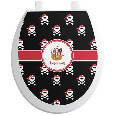Pirate Toilet Seat Decal (Personalized)