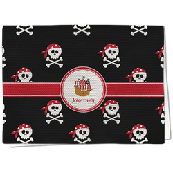 Pirate Waffle Weave Kitchen Towel - Full Print (Personalized)