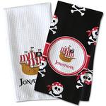 Pirate Waffle Weave Kitchen Towel (Personalized)